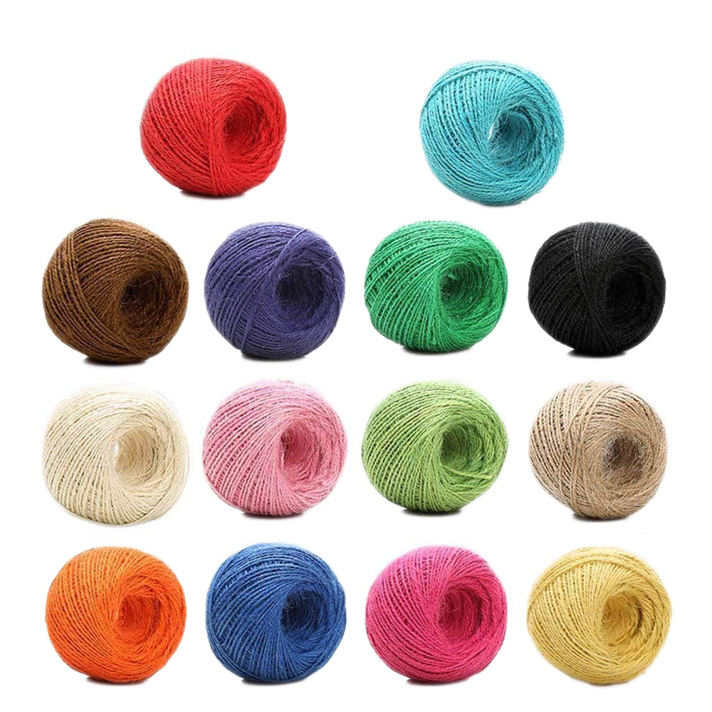 100m 100/% Natural Cotton String Twisted Cord Beige Craft Macrame Artisan 2mm CR