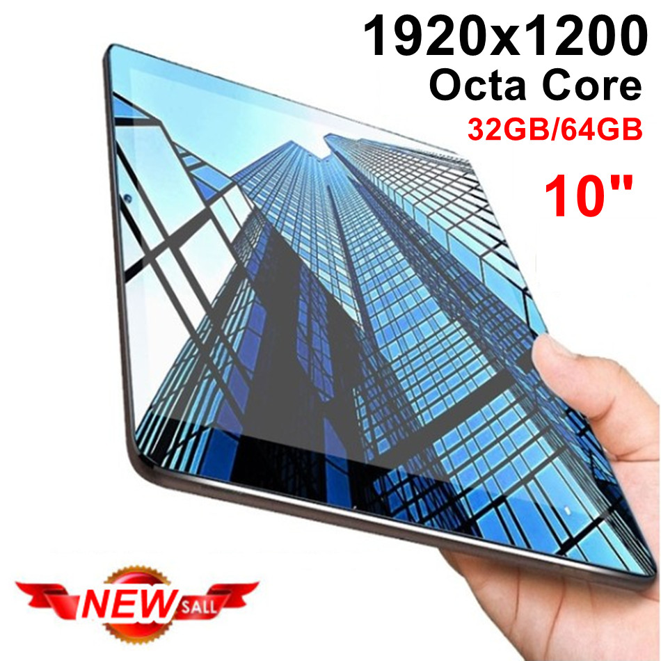 New IPS Tablet Octa core 10 Inch 32GB/64GB 2 in1 Tablet with phone Ful HD 1920x1200 Tablet PC Android 7.0 Google Play 10 10.1