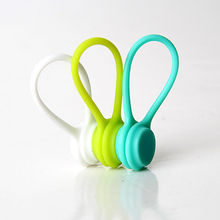 3PCS Soft Silicone Magnetic Cable Winder Organizer Cord Earphone Storage Holder Clips Cable Winder For Earphone For Data Cable