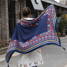 hot deal buy women spring and autumn summer cotton hemp large scarf wraps sunscreen beach towels air conditioning shawls 180*100cm