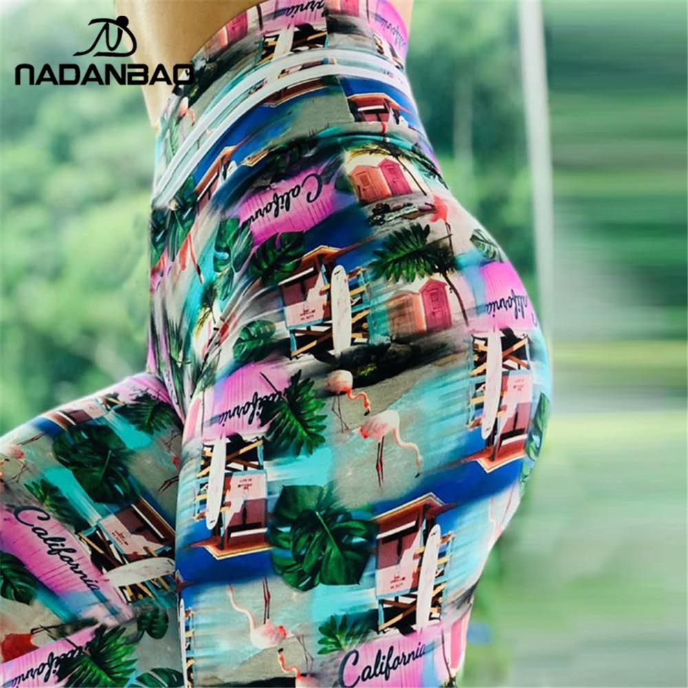 NADANBAO NEW 3D Women Sporting Legging High Waist Fitness Leggings Flamingo Print Sexy Slim Workout Leggin For Woman Plus Size