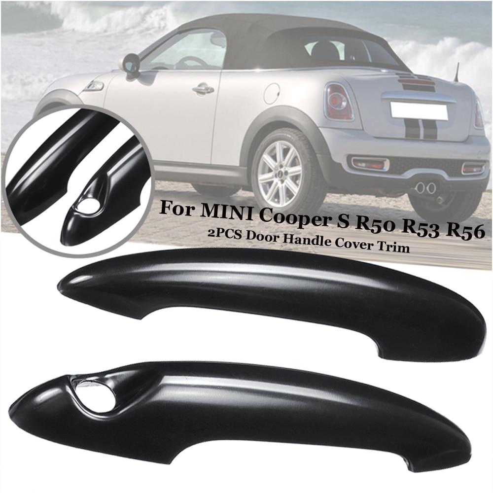 Checkered Door Handle Cover Cap For Mini Cooper R52 R53 R55 R56 R57 R58 R59 R61