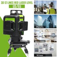 12 линия 3D красный лазерный уровень самонивелирующийся 360 градусов лазерный уровень профессиональные лазеры для строительных инструментов