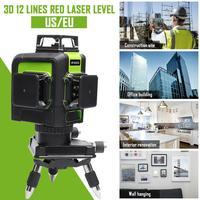 12 линия 3D красный лазерный уровень самонивелирующийся 360 градусов лазерный уровень Professional лазеры для строительных инструментов