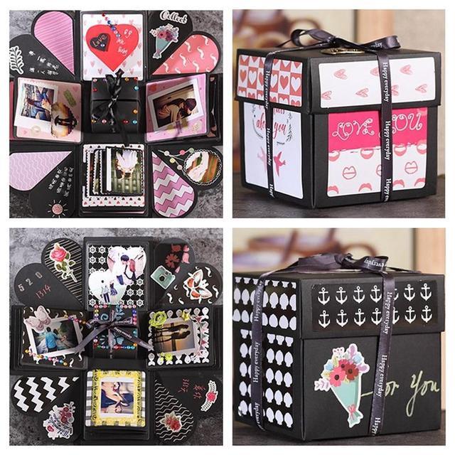 DIY Surprise Love Explosion Box Gift For Anniversary Scrapbook Photo Album Birthday 15 Inch