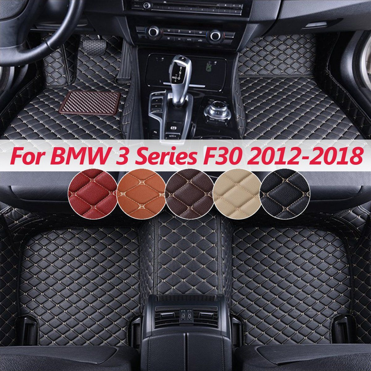 Car Floor Mats for BMW e30 e34 e36 e39 e46 e60 e90 f10 f30 x1 x3 x4 x5 x6  1/2/3/4/5/6/7 3 Series F30 2000-2018 5 Seat LHD