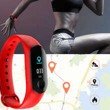 Sport Color Screen Smart Band Watch Fitness Tracker Blood Pressure Bracelet  Heart Rate Business Watch M3S Red  Wristband цена и фото