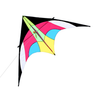 Colorful Huge Delta Kite Outdoor Actively Sport Single Line Flying Kite with 30m Flying Line for Kids Adults