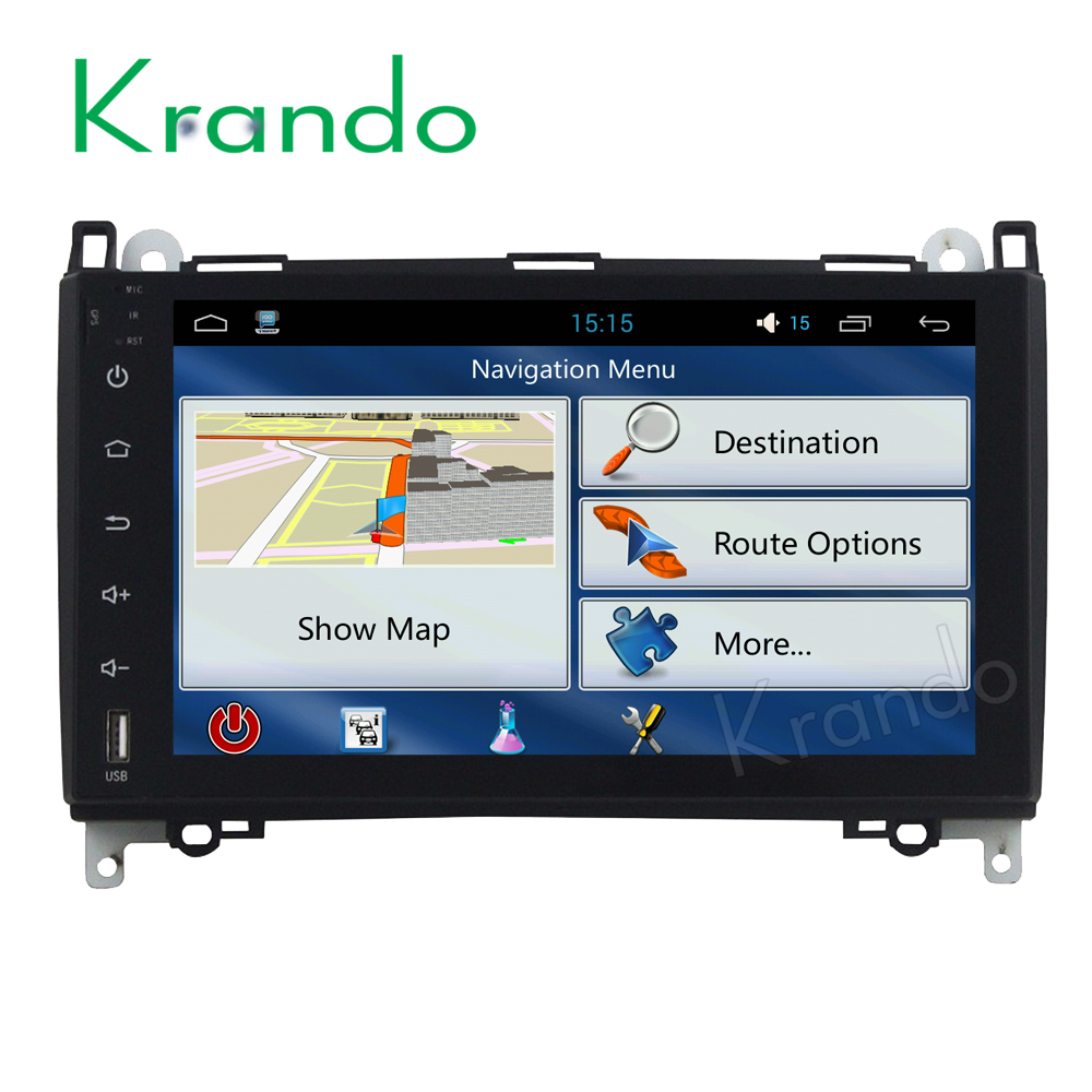 Krando Android 8.0 car radio <font><b>gps</b></font> stereo navigation audio radio for <font><b>Mercedes</b></font> for benz A <font><b>B180</b></font> B200 W169 W245 2005-2012 multimedia image