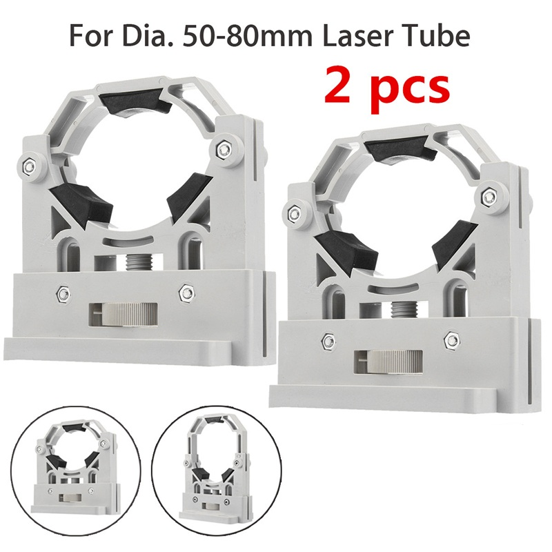 2Pcs CO2 Laser Tube Holder Support Mount 50-80mm ABS Plastic Support for 50-180W Laser Engraving Machine2Pcs CO2 Laser Tube Holder Support Mount 50-80mm ABS Plastic Support for 50-180W Laser Engraving Machine