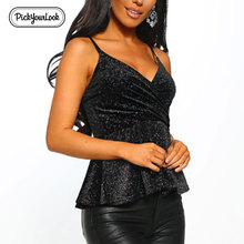 Pickyourlook Women Tank Top T-Shirt Solid Strap Female Tee Shirt Fashion Black Sleeveless Summer Ladies Tops And Tshirt