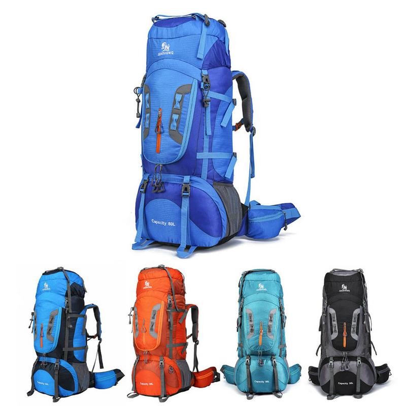 80L Big Capacity Outdoor Camping Backpack Hiking Climbing Nylon Bag Sport Travel Package Knapsack Rucksack Shoulder