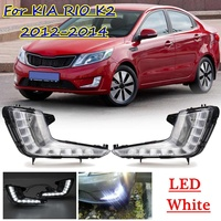 Yellow Turn Signal Car Styling 12V LED Daytime Running Light driving light with Fog Lamp hole DRL For KIA RIO K2 2012 2013 2014