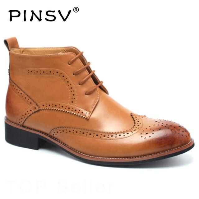 Brogue skórzane kozaki damskie męskie buty wiosna jesień buty motocyklowe do kostki męskie obuwie czarny mężczyźni oksfordzie buty