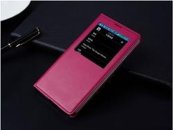 Case For Samsung Galaxy Note 3 III Note3 NoteIII Neo Mini Lite N7505 View Window Flip pu Leather Case no chip