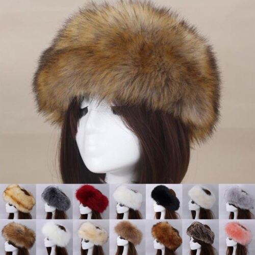 97a9c3f1965906 Lady Women Hats Head Bands Fluffy Winter Russian Berets Hat Ear Flap Faux  Fur Fox Raccoon