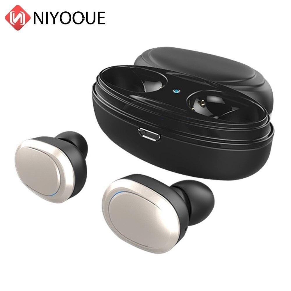 TWS Bluetooth écouteur casque avec micro véritable sans fil Mini écouteurs stéréo musique tête téléphone mains libres casque sans fil pour téléphone
