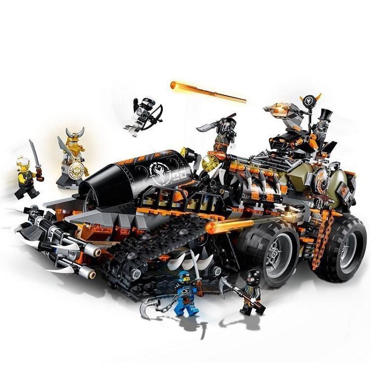 LegoeNGLY 70654 Ninjago 1320PCS Toys The Dieselnaut Tank Model Building Blocks Bricks Kits Kids DIY Christmas Gift 2018 New