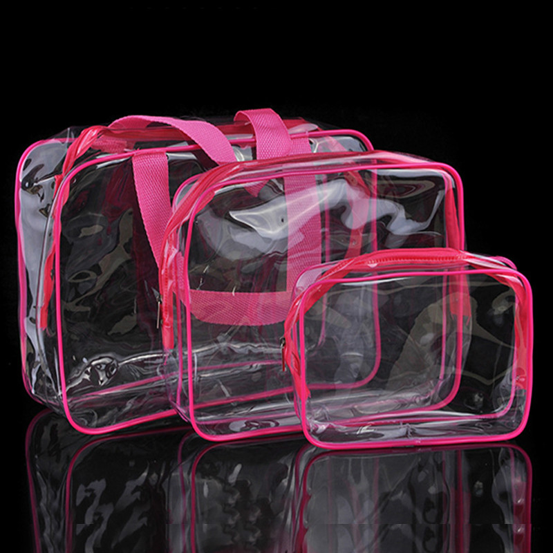 Transparent PVC Bags Travel Organizer Clear Makeup Bag Women Cosmetic Bag Beauty Case Toiletry Tote Make Up Pouch Wash Bags