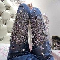 Diamonds cotton elastic pencil pants women 2019 new arrivals