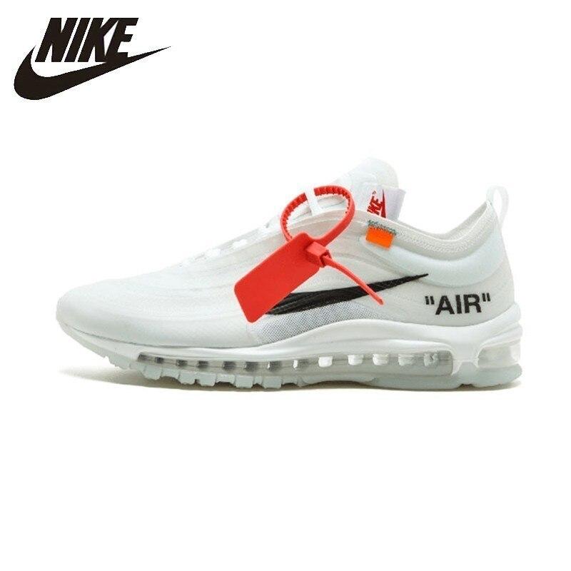 NIKE Air Max 97 OG blanc cassé hommes coussin course chaussures Sport baskets Original nouveauté # AJ4585-100