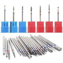 1 Uds., taladro de diamante para uñas, brocas para pulir uñas, cortador de cutículas para manicura, limas eléctricas para pulir uñas