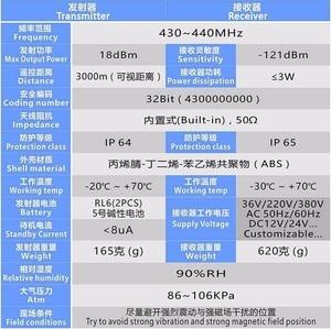 Image 5 - エレベーター 3000 メートル 220 v リモート業界ワイヤレス制御光スイッチは、カスタマイズされたスイッチボタン