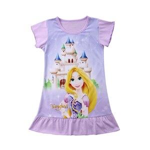 2018 летнее милое Хлопковое платье FOCUSNORM для малышей, маленьких девочек, мультяшное платье принцессы, повседневные летние платья