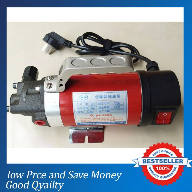 Hot Sale Electric Oil Pump 220V 2.5L/min Hydraulic oil Gear Oil Transfer Pump стоимость