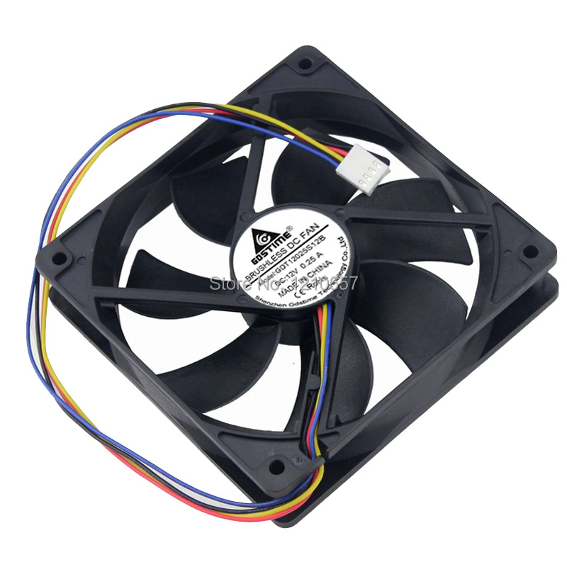 Купить с кэшбэком 1PCS Gdstime Hydraulic 120mm x 25mm 12cm PWM FG Computer Case Cooling Fan 4 Pin Cooler