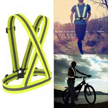 Night Running Cycling safety Traffic Warning Adjustable Reflective Belt  46-63cm Running e1122ba54