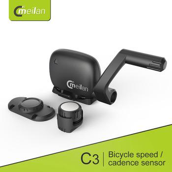 Meilan C3 bezprzewodowy czujnik prędkości kadencji wodoodporny czujnik Bluetooth BT4 0 tanie i dobre opinie Bezprzewodowy stoper Meilan C1 Meilan C3