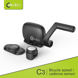 Image 1 - Meilan C3 беспроводной датчик скорости/частоты вращения педалей Водонепроницаемый Bluetooth BT4.0 датчик e