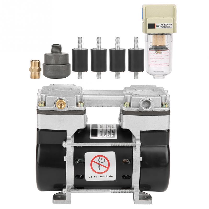 Oil Free Air Compressor >> Us 133 12 29 Off Vn 40v Mini Oil Free Air Compressor Motor Vacuum Built In Silencer Pump 220v 130w Flow 36l Min Vacuum Air Pump Brand New In Pumps
