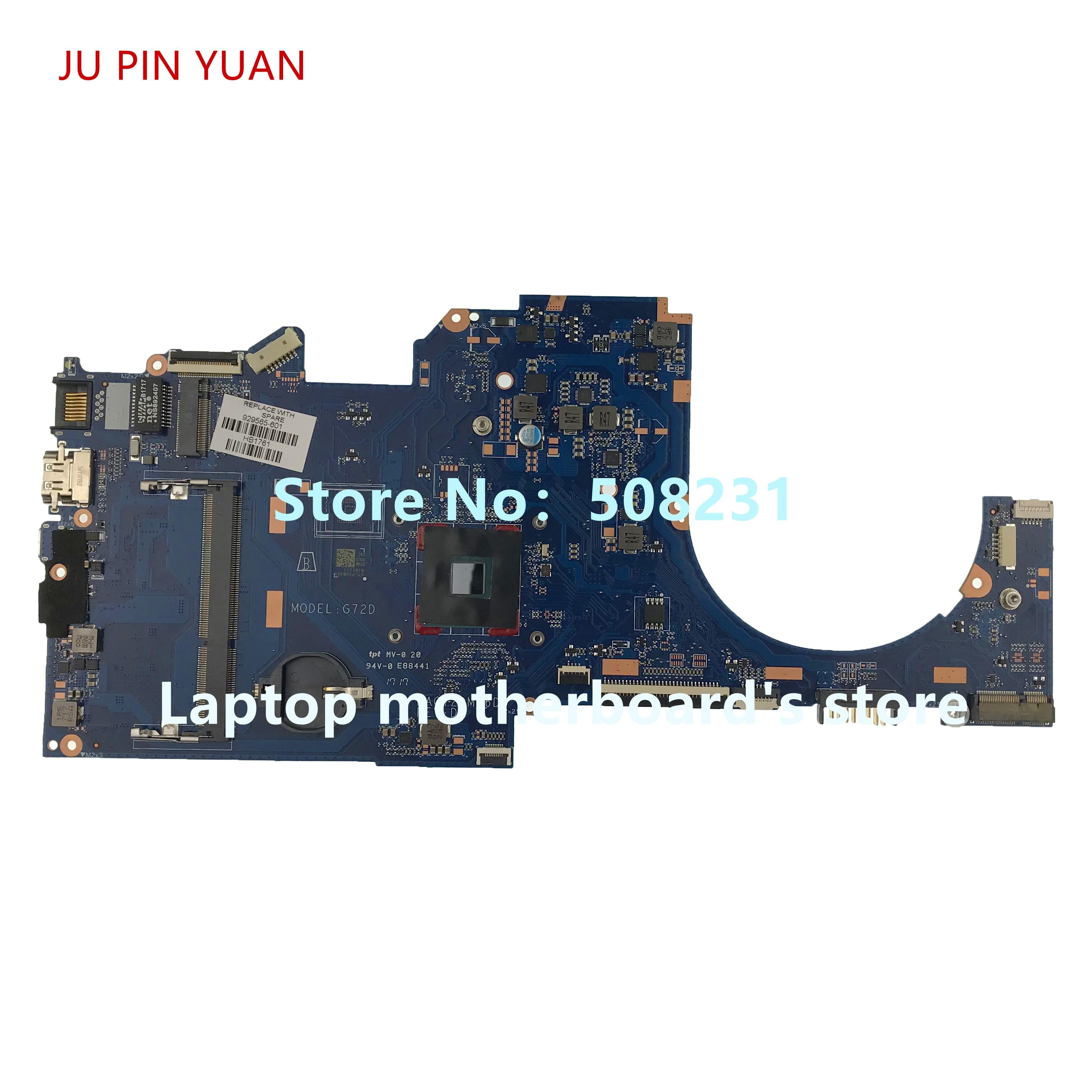 JU PIN YUAN 929565-601 G72D DAG72DMB6D0 motherboard For HP Laptop 14-BP 14-bp038TX Notebook PC CelN3060 fully TestedJU PIN YUAN 929565-601 G72D DAG72DMB6D0 motherboard For HP Laptop 14-BP 14-bp038TX Notebook PC CelN3060 fully Tested