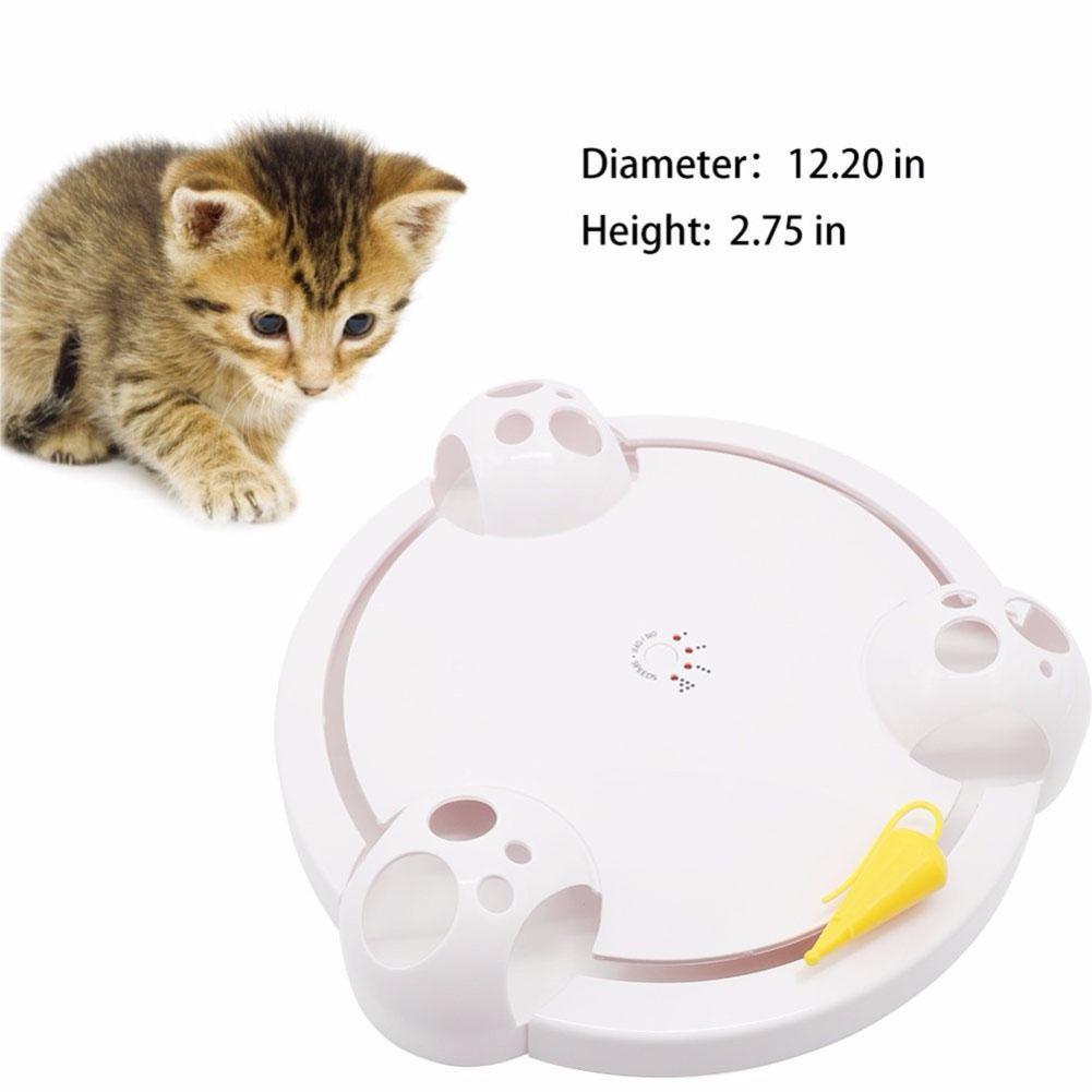 Adeeing électrique chat gratter souris jeu disque Pet jouet joie disque souris tourne-disque chat gratter conseil Amusement plaque