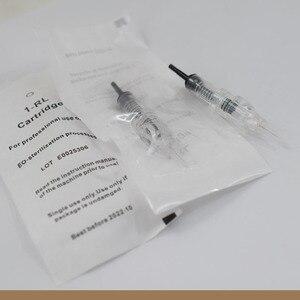 Image 1 - Cartridge Needles100pcs/Lot 1RL Wegwerp Gesteriliseerde Permanente Make Up Tattoo Naald Tips Voor Wenkbrauw Lip Agulha Gemakkelijk Klik
