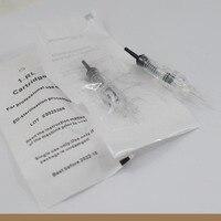 Cartridge Needles100pcs/lot 1RL Disposable Sterilized Permanent Makeup Tattoo Needle Tips For Eyebrow Lip Agulha Easy Click