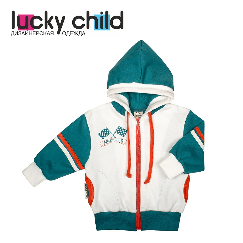 Hoodies & Sweatshirts Lucky Child for boys 21-17f Cardigan Sweatshirt Kids Coat Children clothes cardigan 1700407 21