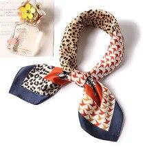 Ruicesstai silk scarf square 70*70cm fashion leopard women 2019 new spring summer neckerchief lady foulard bandana shawls