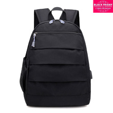 Concise Both Shoulders Package Student 15.6 Computer Canvas A Bag Oxford Men And Women Backpack 14 Inch Korean Defence Water
