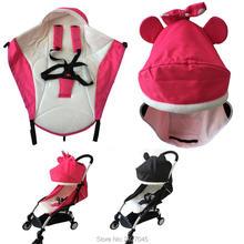 2pcs/set Baby Stroller Accessories Seat Cushion For Winter Keep Warm Umbrella Sunshade Canopy Fit Babyzen Yoyo Yoya Vovo
