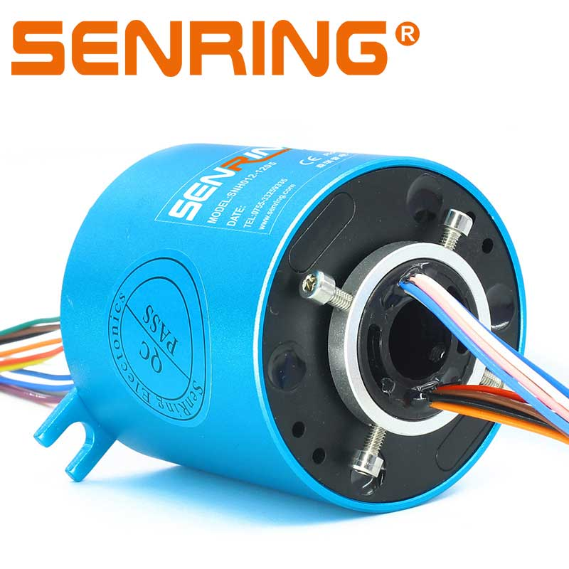 Powerful Slip Ring with ID12.7mm 12 Wires 5A Current Transfer Used in robotics and industrial cable reels