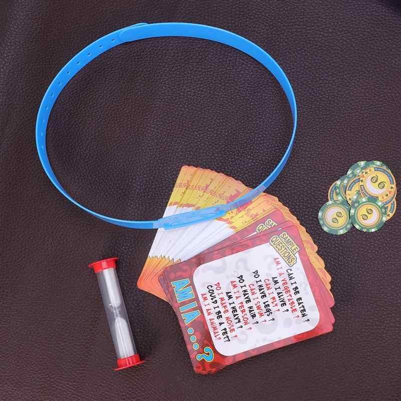 1pcs Creative Desktop Grappige Educatief Guess Card Game Interactie Speelgoed Guess Kaart Speelgoed voor Baby Kind Baby