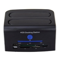 Tooploo 2.5 3.5 IDE & SATA eSATA USB 2.0 USB Port OTB 5 in 1 Card Reader HDD Docking Station