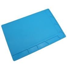 34×23 см теплоизоляция силиконовый коврик стол коврик обслуживание платформы пайки, синий