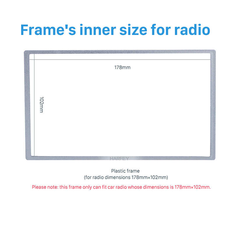 Harfey Universale 2Din Car Stereo Autoradio Fascia Trim Kit Telaio Dash Piastra per HONDA FIT Jazz Dash Sorrounded Pannello 178*102 millimetri