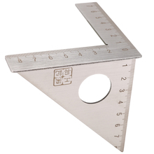 Stainless Steel Woodworking Ruler Square Layout Miter Triangle Rafter 45 Degree 90 Degree Metric Gauge Measuring Gauging Tools