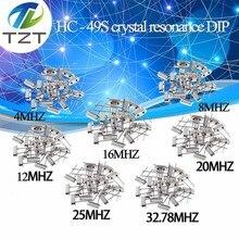 Hc-49s кристаллический осциллятор электронный комплект резонатор керамический Кварцевый резонатор Hc-49 Dip 7 видов X 5 шт 32,768 к 4 8 12 16 20 25 МГц