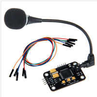 CLAITE Voice Recognition Control Module With Microphone Dupont Jumper Wire Speech Recognition Voice Board For Arduino Compatible